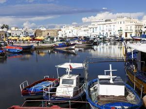 Old Port Canal and Fishing Boats, Bizerte, Tunisia, North Africa, Africa by Dallas & John Heaton