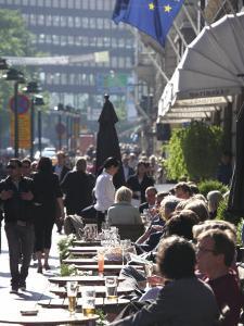 Pavement Cafe, Pohjoisesplanadi Street, Esplanade, Helsinki, Finland, Scandinavia, Europe by Dallas & John Heaton
