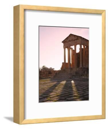 Pillars of the Church of St. Servus in the Roman Ruins of Sbeitla, Tunisia, North Africa, Africa