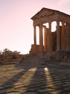 Pillars of the Church of St. Servus in the Roman Ruins of Sbeitla, Tunisia, North Africa, Africa by Dallas & John Heaton