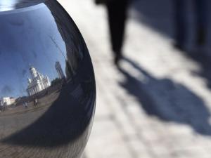 Reflection of Lutheran Cathedral, Senate Square, Helsinki, Finland, Scandinavia, Europe by Dallas & John Heaton