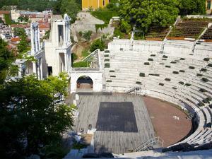 Roman Marble Amphitheatre Built in the 2nd Century, Plovidv, Bulgaria, Europe by Dallas & John Heaton