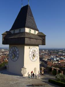 Schlossberg, Clock Tower, Old Town, UNESCO World Heritage Site, Graz, Styria, Austria, Europe by Dallas & John Heaton