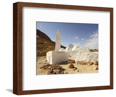 Seven Sleepers Mosque, Chenini, Sahara Desert, Tunisia, North Africa, Africa