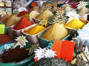 Spices on Stall in Market of Souk Jara, Gabes, Tunisia, North Africa, Africa by Dallas & John Heaton
