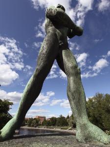 Statue of Hunter, Hameensilta Bridge, Tampere City, Pirkanmaa, Finland, Scandinavia, Europe by Dallas & John Heaton