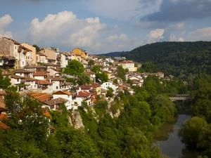 Stormy Weather at Dusk over Hillside Houses Above the Yantra River, Veliko Tarnovo, Bulgaria, Europ by Dallas & John Heaton