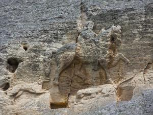 The Madara Rider, an 8th Century Relief Depicting a King on Horseback Carved into Rockface, UNESCO  by Dallas & John Heaton
