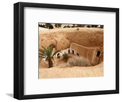 Troglodyte Pit Home, Berber Underground Dwellings, Matmata, Tunisia, North Africa, Africa