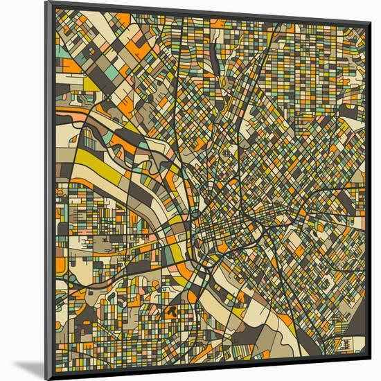 Dallas Map Mounted Print By Jazzberry Blue Art Com
