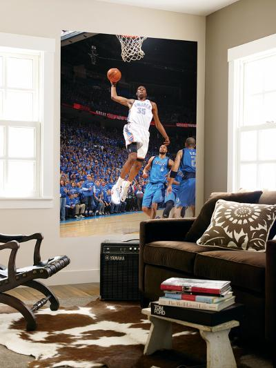 Dallas Mavericks v Oklahoma City Thunder - Game FourOklahoma City, OK - MAY 23: Kevin Durant and Ja-Joe Murphy-Giant Art Print