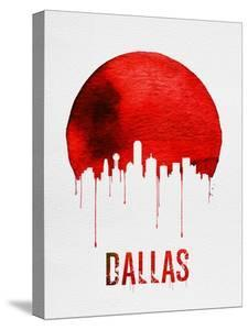 Dallas tx artwork for sale posters and prints at art dallas skyline red malvernweather Choice Image