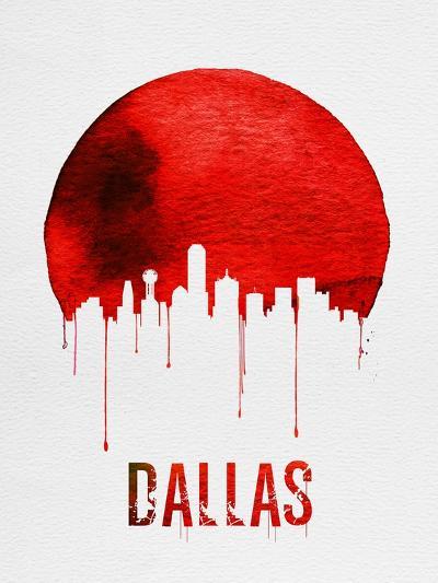 Dallas Skyline Red--Art Print