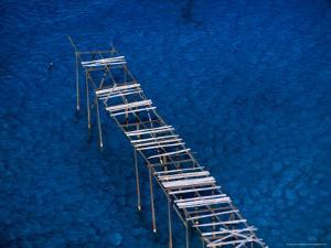 Abandoned Pumice Quarry Jetty,Sicily, Italy by Dallas Stribley