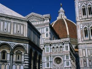 Battistero Facade, Dome and Campanile of Il Duomo, Florence, Tuscany, Italy by Dallas Stribley