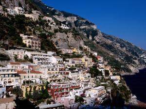 Houses Terraced into Amalfi Coastline, Positano, Italy by Dallas Stribley