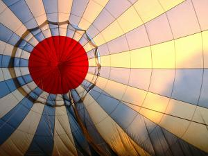 Inside an Inflating Hot-Air Balloon at Dawn by Dallas Stribley
