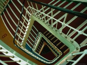 Looking Down the Stairwell of the S.S. Shanghai, China by Dallas Stribley