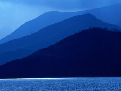 Mountain Silhouettes in New Territories, Hong Kong by Dallas Stribley