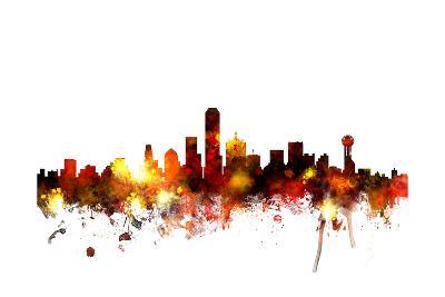 Dallas Texas Skyline-Michael Tompsett-Art Print