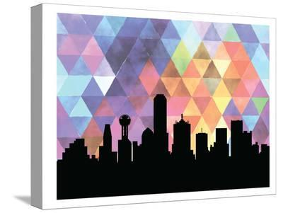 Dallas Triangle-Paperfinch 0-Stretched Canvas Print
