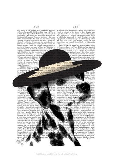 Dalmatian and Brimmed Black Hat-Fab Funky-Art Print