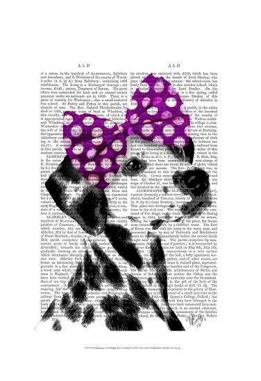Dalmatian with Purple Bow on Head-Fab Funky-Art Print