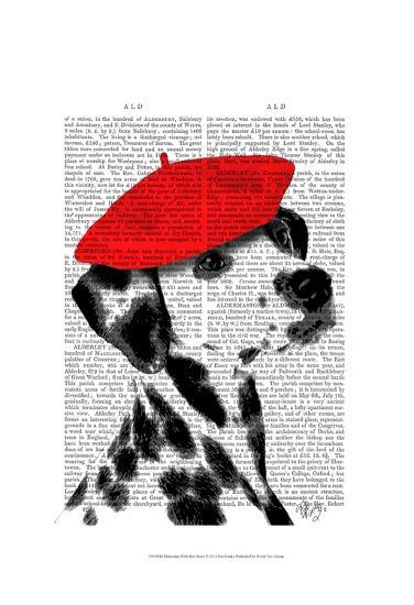 Dalmatian With Red Beret-Fab Funky-Art Print