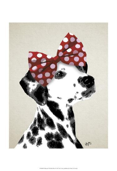 Dalmatian With Red Bow-Fab Funky-Art Print
