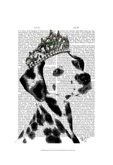 Dalmatian with Tiara-Fab Funky-Art Print
