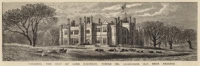 Dalmeny, the Seat of Lord Rosebery, Where Mr Gladstone Has Been Staying-William Henry James Boot-Giclee Print