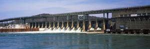 Dam on a River, Chickamauga Dam, Tennessee River, Chattanooga, Tennessee, USA
