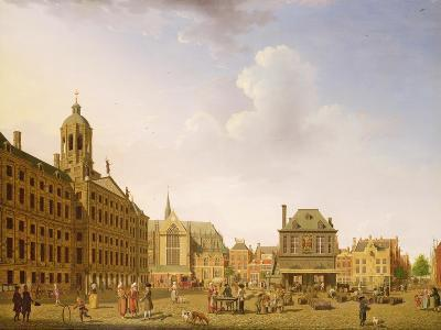 Dam Square - Amsterdam, 1782-Isaak Ouwater-Giclee Print