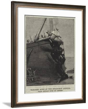 Damaged Bows of the Steam-Ship Arizona, from Contact with an Iceberg--Framed Giclee Print