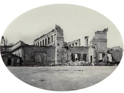 Damaged Building in Sevastopol after the Crimean War, Crimea, 1850S--Giclee Print