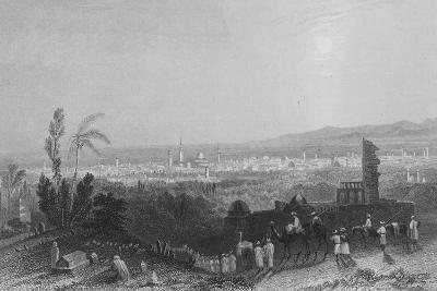 Damascus, from Above Salahyeh-William Henry Bartlett-Giclee Print