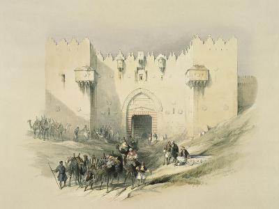 Damascus Gate, Jerusalem-David Roberts-Giclee Print