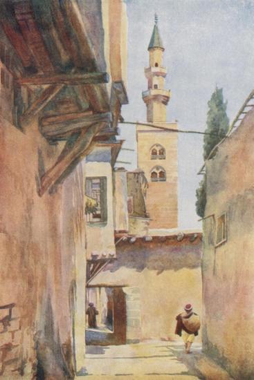 Damascus: Minaret of Jesus-Walter Spencer-Stanhope Tyrwhitt-Giclee Print
