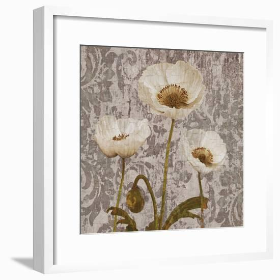 Damask Blooms IV-Tania Bello-Framed Giclee Print