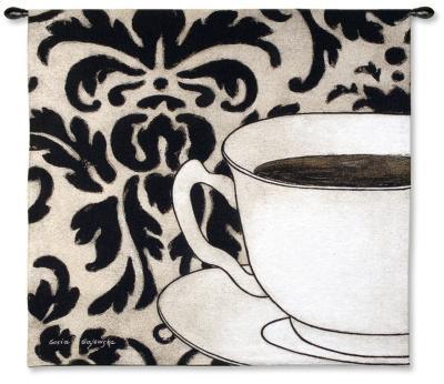 Damask Coffee-Gosia Gajewska-Wall Tapestry