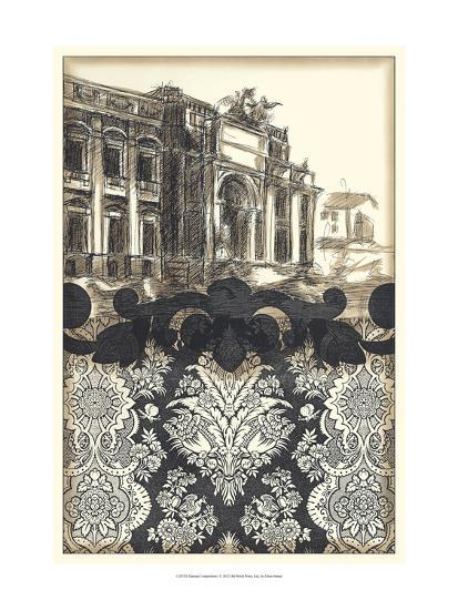 Damask Composition I-Ethan Harper-Art Print