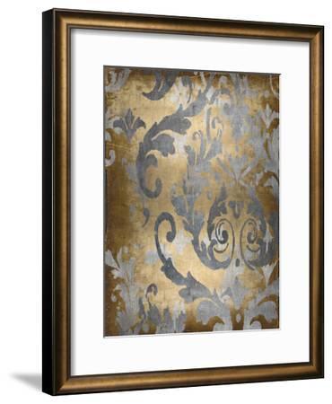 Damask in Gold II-Ellie Roberts-Framed Giclee Print
