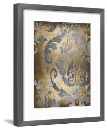 Damask in Gold II-Ellie Roberts-Framed Giclee Print