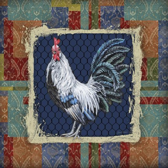 Damask Rooster-Q-Jean Plout-Giclee Print