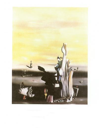 Dame a L'Absence-Yves Tanguy-Art Print