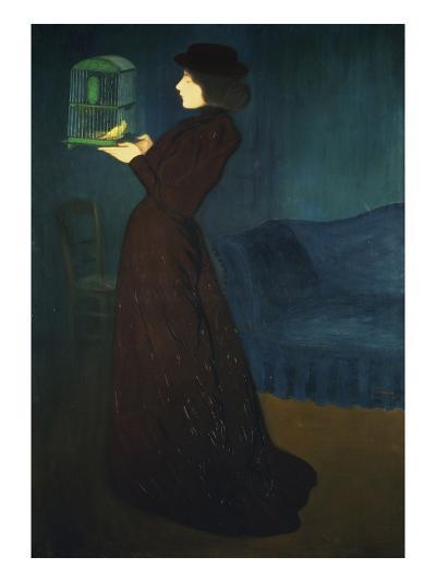 Dame Mit Vogelkaefig, 1892-Jozsef Rippl-Ronai-Giclee Print