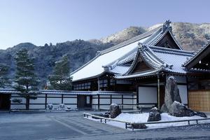 Early winter morning in Tenryu-ji Temple, UNESCO World Heritage Site, Kyoto, Japan, Asia by Damien Douxchamps