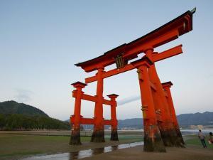 Torii at Low Tide, Itsukushima Shine by Damien Douxchamps