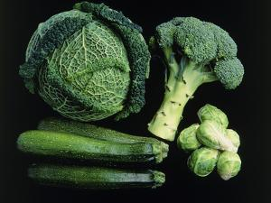 Green Vegetable Selection by Damien Lovegrove