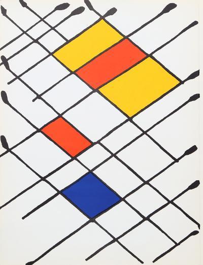 Damier from Derriere Le Miroir-Alexander Calder-Collectable Print